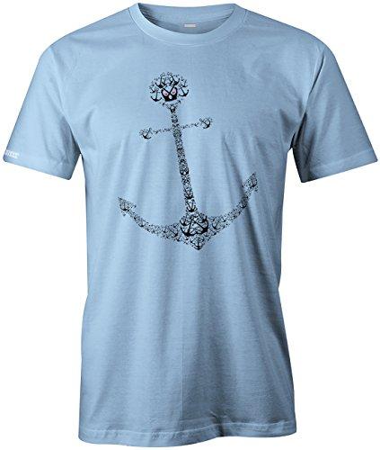 1000 Anker Anchor - Herren T-SHIRT Hellblau