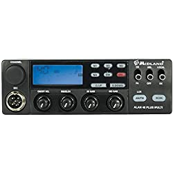 Midland Alan 48 Multi - Radio emisora CB multibanda vehicular, color negro