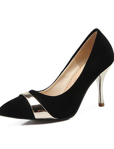 WSS 2016 Chaussures Femme-Bureau & Travail / Décontracté-Noir / Bleu / Rouge-Talon Cône-Talons / Bout Pointu-Chaussures à Talons-Laine synthétique black-us10.5 / eu42 / uk8.5 / cn43