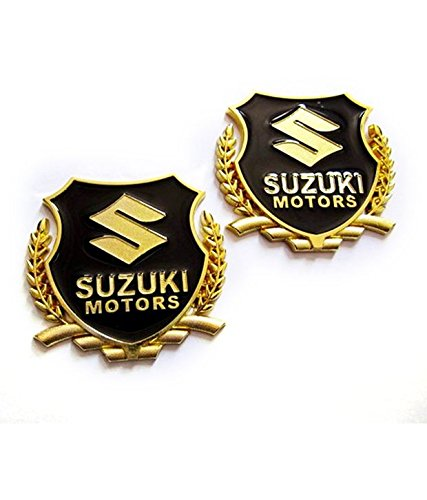 automaze 2pc maruti suzuki motors golden car 3d metal grille trunk badge decal logo (set of 2) Automaze 2pc Maruti Suzuki Motors GOLDEN Car 3D Metal Grille Trunk Badge Decal Logo (Set of 2) 41Jl7woeNVL