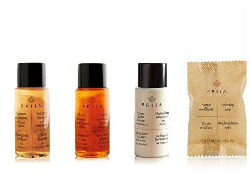 Paquet de bienvenue Prija Hotel Toiletries 400 unités shampooing, gel douche, lotion pour le corps et savon