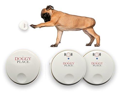 My Doggy Place -Hund Haustier Kinder Kleinkind, Drahtlose Türklingel, Keine Batterien Erforderlich, Elektronische Klingel Bell, Töpfchen, Für Kleine, Mittlere, Große Hunde (Zwei Sender - - Empfänger Elektronische