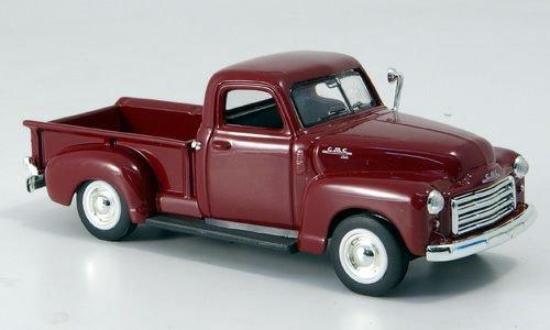 GMC Pick Up, dkl.-rot, 1950, Modellauto, Fertigmodell, Yat Ming 1:43 (Gmc Spielzeug Auto)