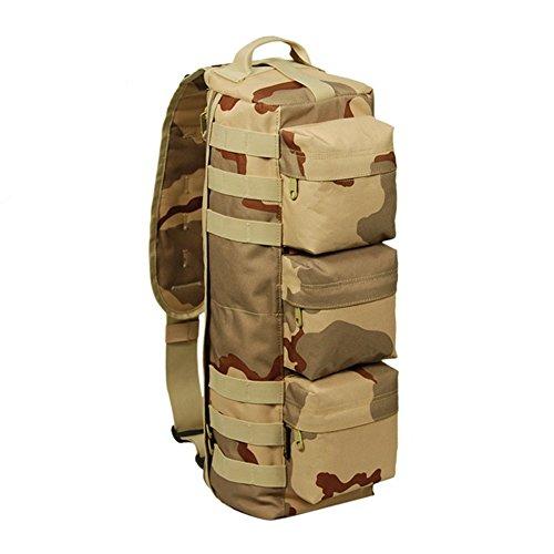 Generic Uomo Outdoor Military tactival Zaino Tela Sacco 20L, nero - nero - Light Grey Camouflage