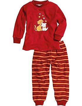 Playshoes Mädchen Zweiteiliger Schlafanzug Schlafanzug Frottee Katzen