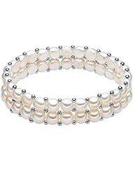 Valero Pearls - Bracelet de perles - Perles de culture d'eau douce - Argent sterling 925 - Bijoux de perles - 60201666
