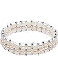 Valero Pearls - Pulsera de perlas embellecida con Perlas de agua dulce - 925 Plata esterlina - Pearl Jewellery, Pulseras - 60201666