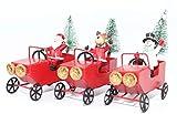 Weihnachtsdeko 3er Set Weihnachtsmann Schneemann Elch im Metallauto Xmas Figur Weihnachtsdekoration Weihnachtsgeschenkidee Deko Weihnachten