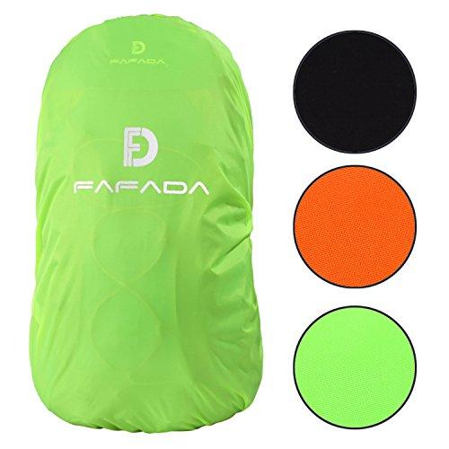 Fafada Nylon Rucksack Regenschutz Regenhülle Raincover für Backpack 25-38L Grün M