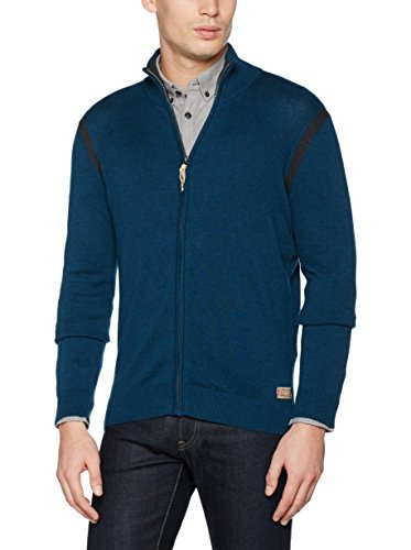 Tom Tailor Modern Basic Zip Jacket, Cardigan Uomo Blu Medio