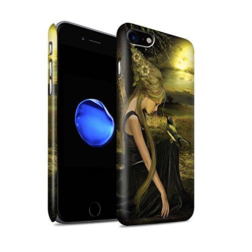 Officiel Elena Dudina Coque / Clipser Matte Etui pour Apple iPhone 8 / Colibris Rouges Design / Les Oiseaux Collection Coucher Soleil