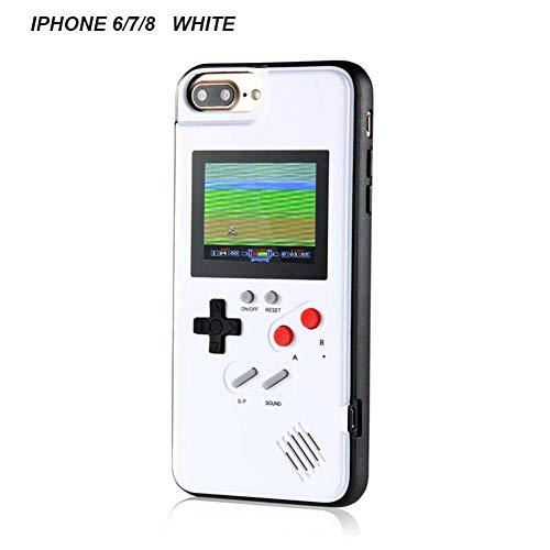 Liuxi Gameboy iPhone-Hülle, iPhone-Case-Spielkonsole mit 36   kleinen Spielen, Farbbildschirm, Retro 3D-Gameboy-Design für iPhone XS/X/XM/XR, iPhone8 / 8 Plus, iPhone 7/7 Plus, iPhone 6 / 6Plus