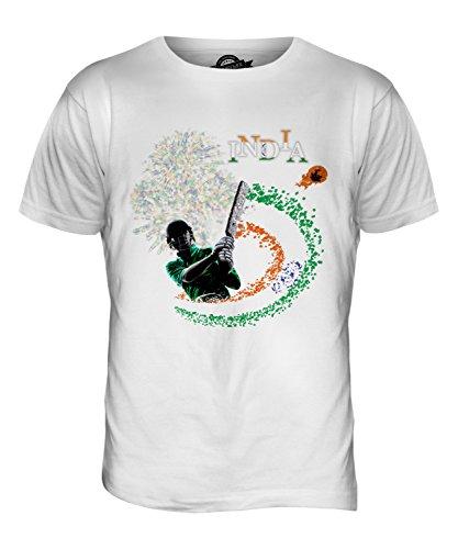 CandyMix Indien Cricket Herren T Shirt Weiß