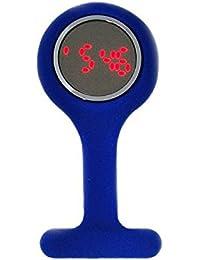 Boxx Led Digital Dark Blue Rubber Infection Control Nurses Fob Watch