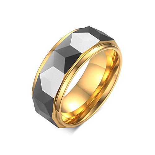 vnox-mens-tungsten-carbide-ring-two-tone-hammered-faceted-wedding-engagement-band-gold-uk-size-x-1-2