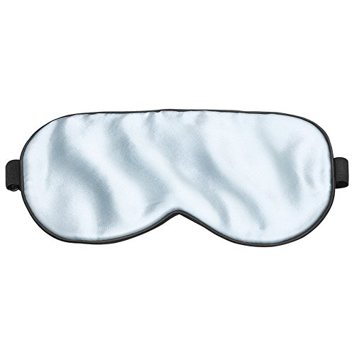 Plemo Luxus Schlafmaske aus Seide, Anti Aging, Hautfreundlich, gut anpassbar mit Verstellbarem Kopfband, blickdichte Schlafbrille für Flugzeug und Schlafen