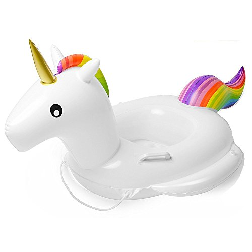 Kids Unicorn Inflatable Swimming Float Pool Loungers Bateau pour enfants pour enfants(74x72x70cm)