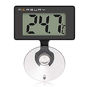 Measury Aquarium Thermometer Submersible, Digital Fish Tank Thermometers for Tropical and Marine Aquarium TM10