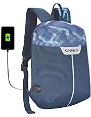 Genius 12 Ltrs Blue Firefly Compact Anti-Theft Backpack with