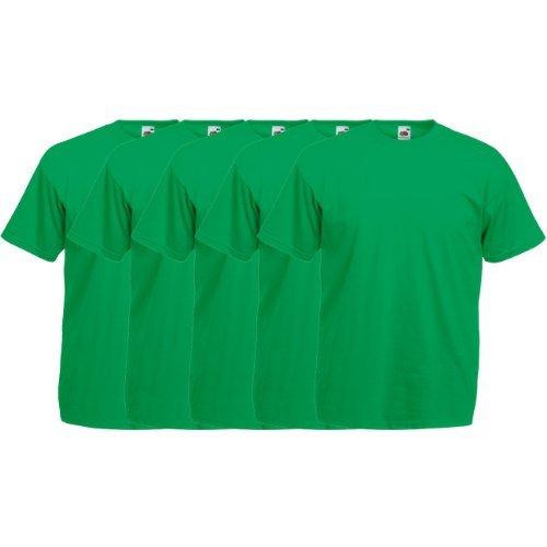 Fruit of the Loom Original  T Rundhals T-Shirt F140 5er Pack- Gr. XXL, Kelly Green -