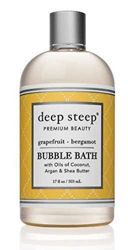 Deep Steep, Organic Bubble Bath, Grapefruit – Bergamot, 17 fl oz (502 ml)