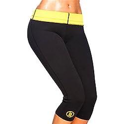 Pantalones de neopreno, se ajustan al cuerpo, pantalones de fitness, Deporte, color negro, tamaño extra-large