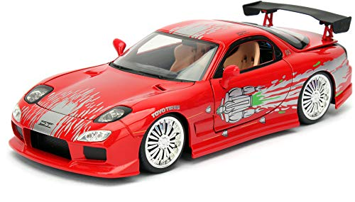 Jada Toys - 98338R - Mazda RX-7 Fast and Furious de 1995 - Escala 1/24 - Color Rojo