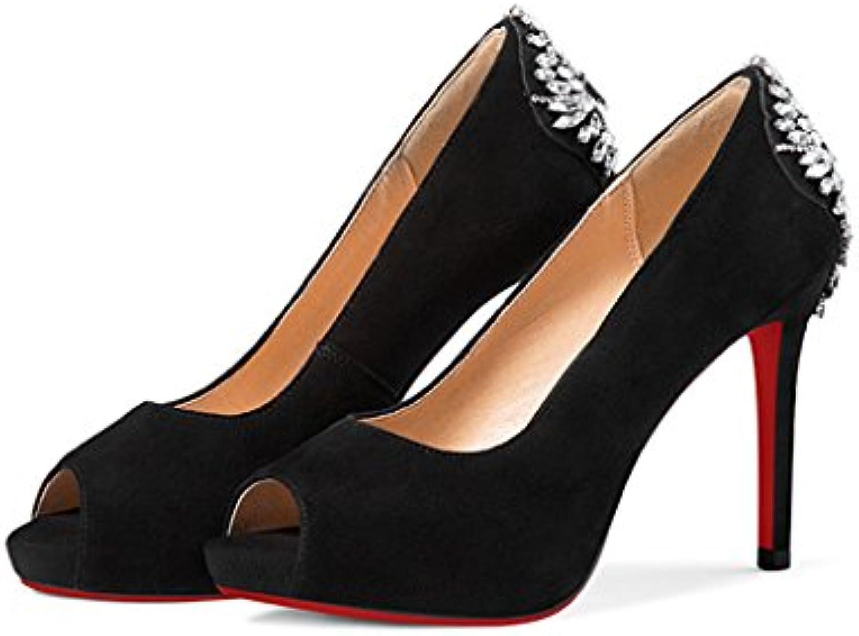 3e768d1a7dcd Hyun Times High-Heeled Sandals 10cm 10cm 10cm Waterproof Platform Diamonds  Matte Fish Mouth high-Heeled Shoes with Open... B07CKYLKFB Parent c32806