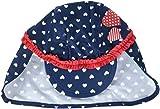 Playshoes Baby-Mädchen UV-Schutz Herzchen Mütze, Blau (Marine 11), 51 (Herstellergröße: 51cm)