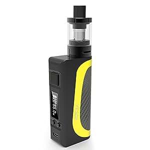 YESDA Sigarette Elettroniche 85W 2600mAh Batteria + Arctic Atomizzatore Sub Ohm Tank 0,5 Ohm OCC Vaporizzatore, OLED Box Mod No Liquido No Nicotina (giallo)
