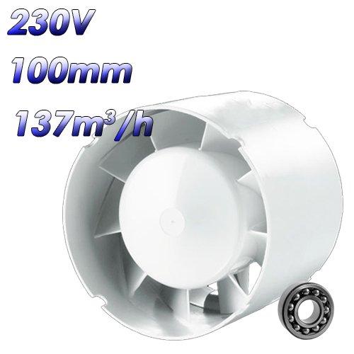 Einschubventilator SD mit TURBO Motor und Kugellager (100 mm) (Kugellager Motor)