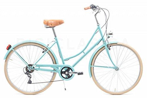 Bicicleta Urbana Capri Valentina Aquamarina 6 Velocidades