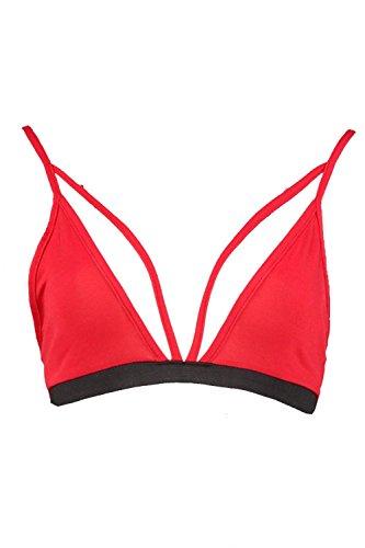 rouge Femmes polly brassière à bretelles Rouge