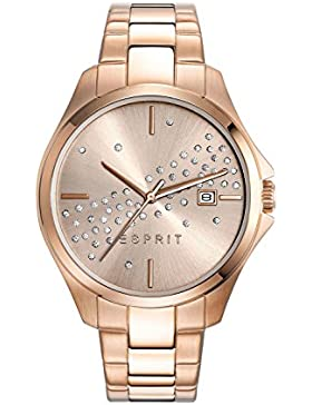 Esprit Damen-Armbanduhr ES-CECILIA ROSE GOLD Analog Quarz Edelstahl beschichtet ES108432003