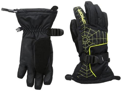 Spyder Overweb Jungen Ski Handschuhe, Jungen, Black/Sharp Lime