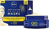 Nivea Q10 POWER Anti-Falten Schlafmaske, straffende und pflegende Gesichtsmaske, Gesichtspflege für erholte und belebte Haut am Morgen, im 1er Pack (1 x 50 ml)