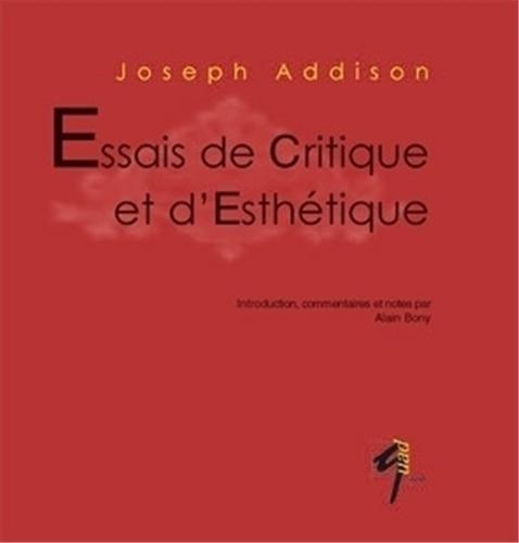 Essais de critique et d'esthétique