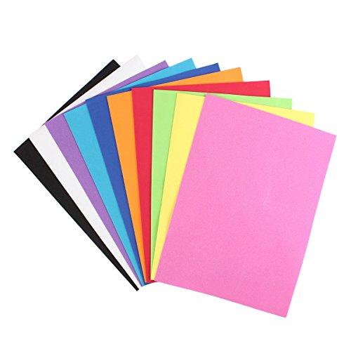 Calli 10Pcs Thick Multicolor Schwamm Schaum A4 Papier falten Scrapbooking Papier Baby Kind Fertigkeit DIY Bastelbedarf