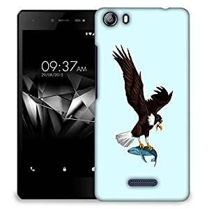 Snoogg Eagle Catching Fish Designer Protective Back Case Cover For MICROMAX E481