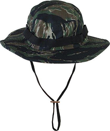 Sommerhut - Boonie Hat - optimaler Sonnenschutz für Afrika-Safari Farbe Tiger Stripe Größe S