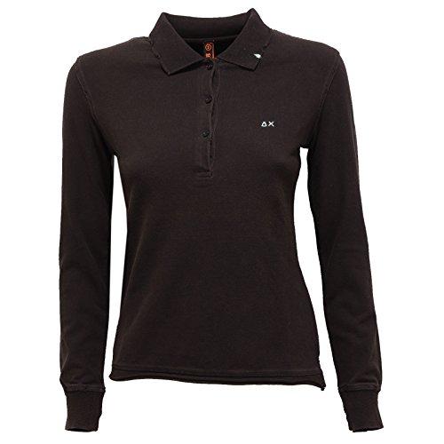 0290R polo donna SUN 68 VINTAGE nero maglia t-shirt woman [S]