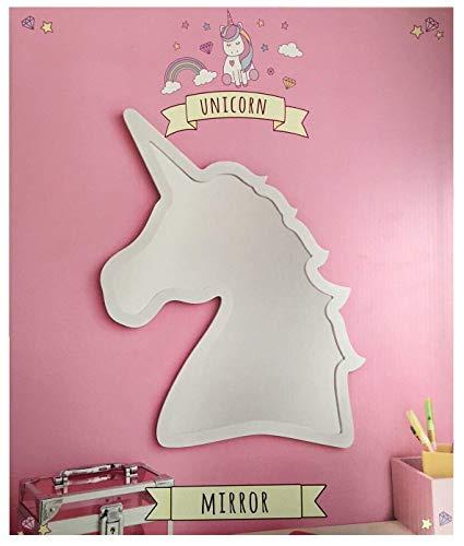 Kinderspiegel, Einhorn-Motiv, Leichter und Sicherheitsspiegel, Pink