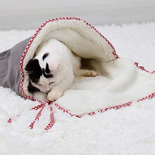 Ckssyao Cama Gato Saco Dormir sueño-a Prueba frío