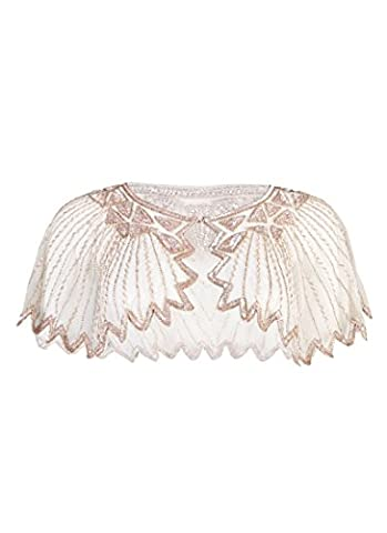 Joanie Clothing Vintage Style Cody Occasion Embellished Capelet