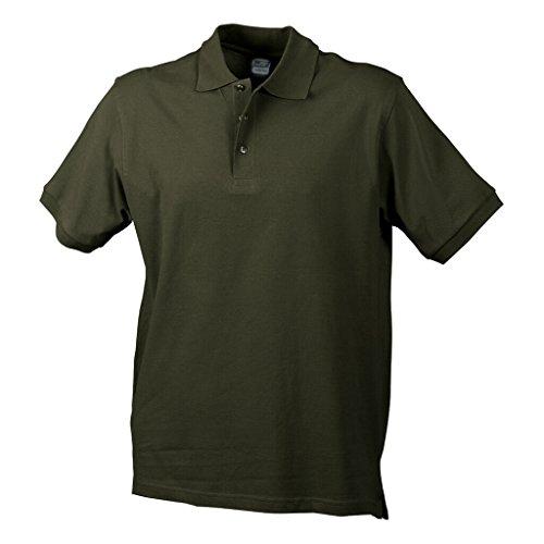 JAMES & NICHOLSON Hochwertiges Polohemd mit Armbündchen Olive