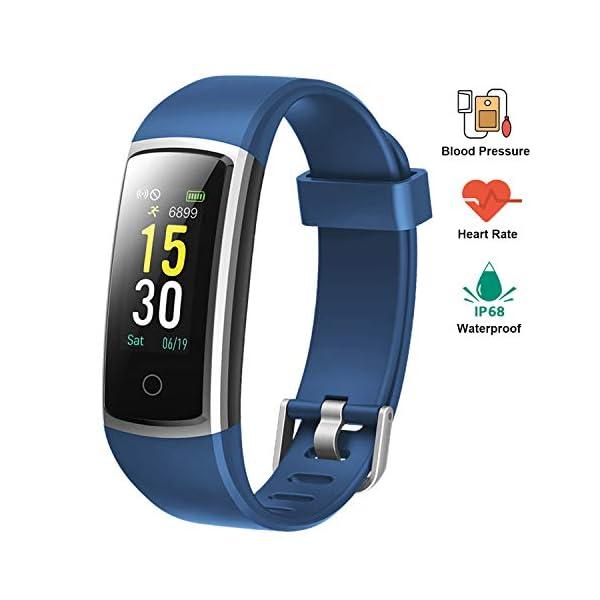 Lintelek Pulsera Actividad Impermeable, Reloj Inteligente con Pulsómetro y Tensiómetro, Reloj Deportivo con GPS Compatible a Android y iPhone 1