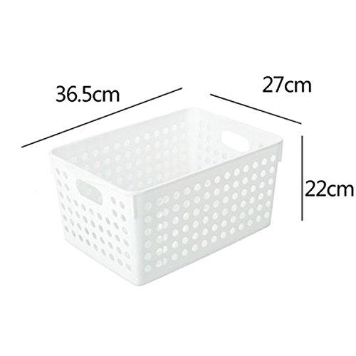 Aufbewahrungskorb Küche Badezimmer Schrank Aufbewahrungsschränke Aufbewahrung Blue Desktop Dish Basket Basket ( Farbe : Weiß , größe : 36.5*27*22cm )