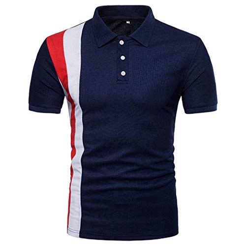 bbac67180d63 BaZhaHei Mode Sommer Mode Persönlichkeit Männer Schlank Patchwork Kurzarm T- Shirt Top Bluse Männer Sommer Schmale Passform Nähen T-Shirt Mantel