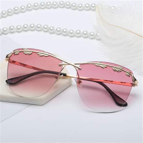 GFF Mode rahmenlose Sonnenbrille Gradient Sonnenbrille Frau Metall Sonnenbrille Marke High Definition Lens UV400