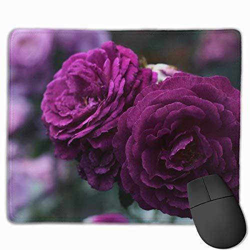 Purple Rose Non-Slip Rubber Mouse Mat Mouse Pad for Desktops, Computer, PC and Laptops 9.8 X 11.8 inch (25x30cm)